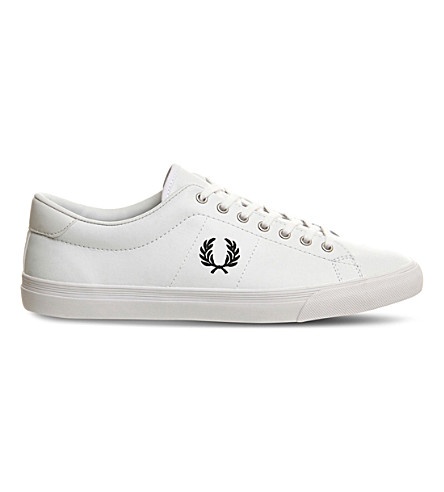 cheap buy quality outlet store Fred Perry Underspin Slip On Leather Trainers In White sast cheap online cheap sale brand new unisex sale collections LIDOjkQTx