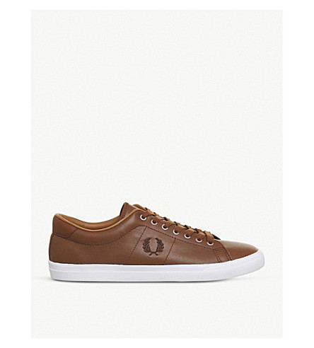 FRED PERRY Underspin leather trainers (Tan