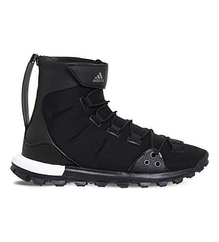 ADIDAS Y3 Y-3 Trail X neoprene sneakers (Black+white