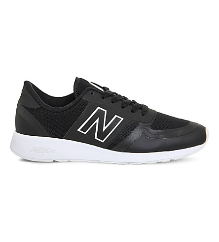 NEW BALANCE 420 low-top mesh trainers (Black+white