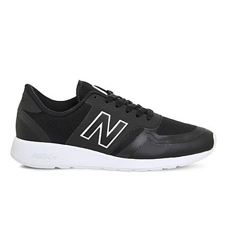 NEW BALANCE 420 low-top mesh sneakers (Black+white