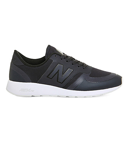 NEW BALANCE 420 low-top mesh trainers (Navy+white