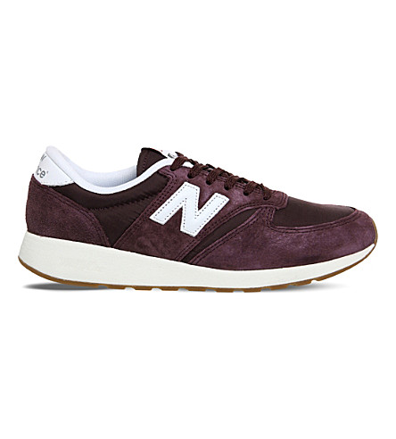 NEW BALANCE 420 suede trainers (Burgundy+suede+mesh
