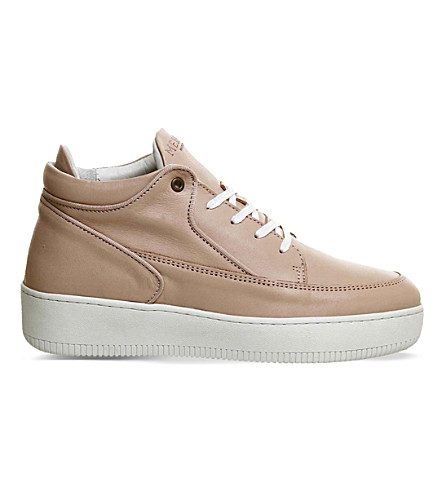 MERCER Grand leather trainers (Nude