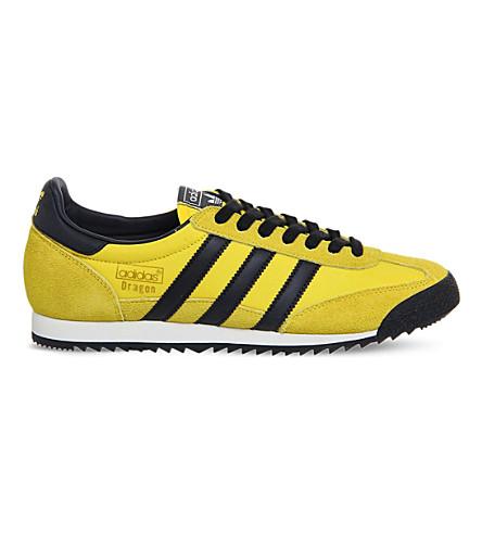 ADIDAS Dragon vintage trainers (Yellow black white