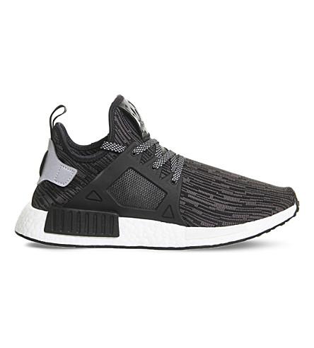 ADIDAS NMD R1 mesh sneakers (Black silver utility
