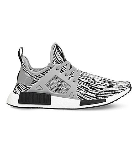 ADIDAS NMD R1 Primeknit trainers (Black+grey+white