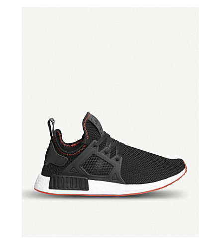 ADIDAS NMD XR1 textile trainers (Black+solar+red