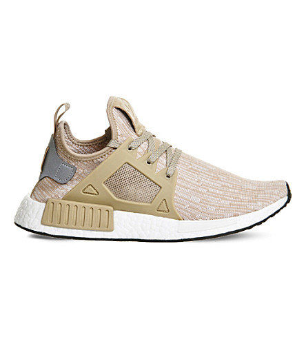 ADIDAS NMD R1 mesh trainers (Linen matte silver