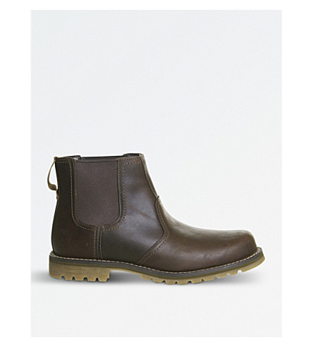 TIMBERLAND Larchmont leather chelsea boots (Gaucho+saddleback