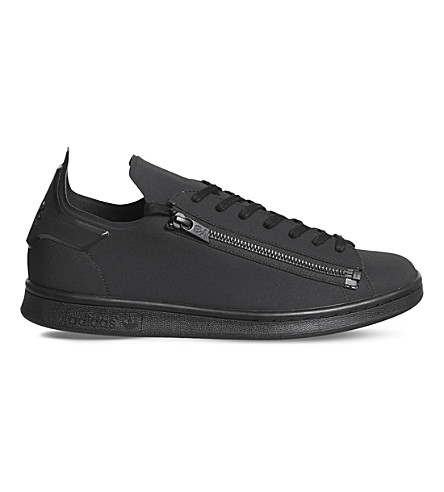 ADIDAS Y3 Y-3斯坦拉链低帮运动鞋 (哑光 + 黑色
