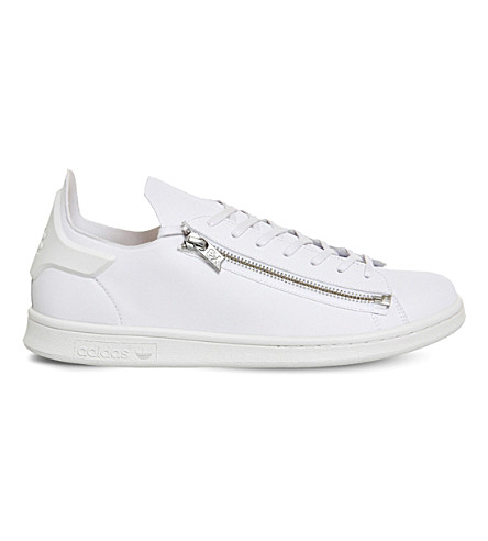 ADIDAS Y3 Y3 Stan zipper leather sneakers (Crystal+white