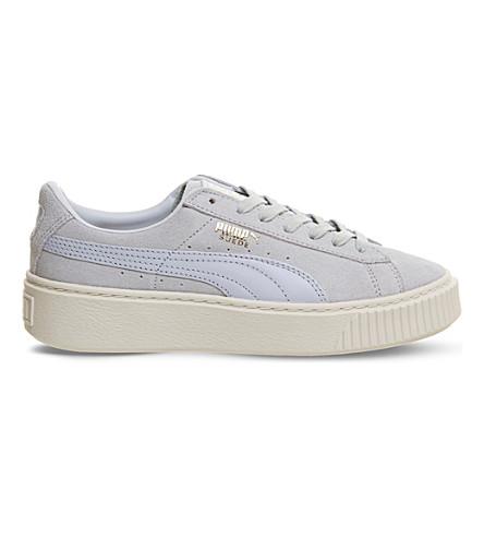 PUMA Suede platform sneakers (Halogen+blue