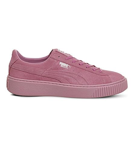 PUMA Suede Platform suede-embellished trainers (Prism pink