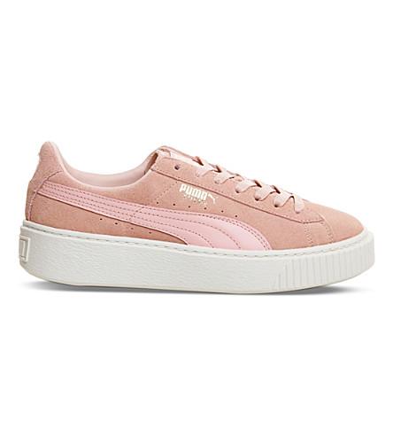 PUMA Suede platform trainers (Coral+pink