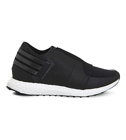 ADIDAS Y3 Xray zipped neoprene trainers (Black+white