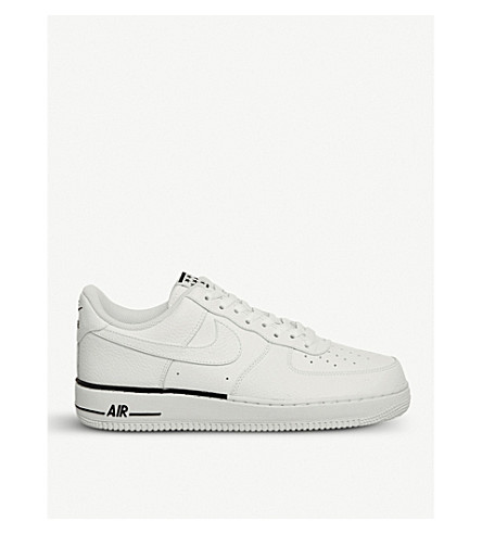 NIKE Air Force 1 07 leather trainers (White+white+obsidian