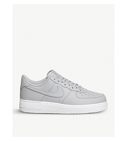NIKE Air Force 1 07 leather trainers (Wolf+grey+white+grey