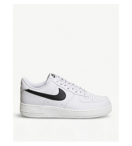 NIKE Air Force 1 07 leather trainers (Vast+grey+black