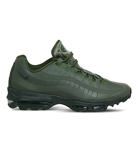 NIKE Air Max 95 Ultra leather and mesh trainers (Cargo+khaki+black