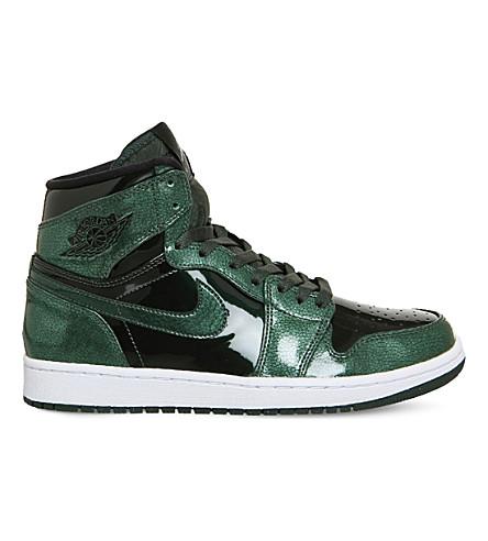 NIKE Air Jordan 1 Retro metallic-leather trainers (Grove green white