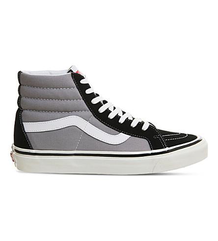 fa0d0020ef67 VANS Sk8 Hi lace-up canvas trainers (Black+light+grey