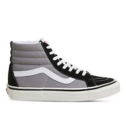 VANS Sk8 Hi lace-up canvas trainers (Black+light+grey