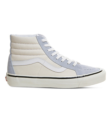 VANS Sk8 hi Dx high-top trainers (Light+blue+white