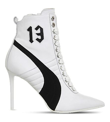 FENTY X PUMA Fenty x PUMA heeled leather boots (White leather