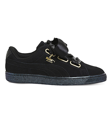 PUMA Suede Heart suede trainers (Puma+black+satin