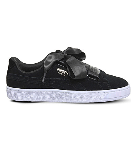 PUMA Suede Heart trainers (Black+gold+vr