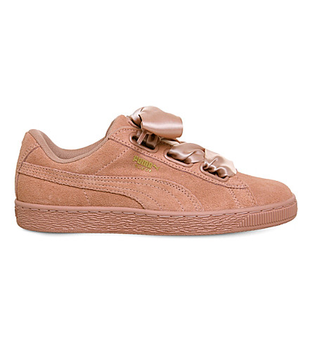 PUMA Suede Heart suede trainers (Cameo+brown+satin