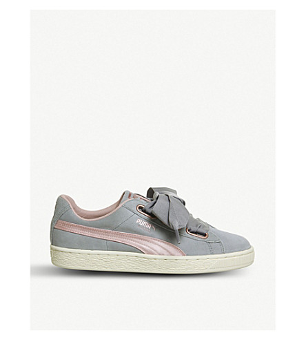 PUMA Suede Heart trainers (Quarry+silver+pink