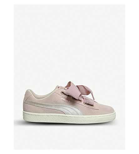 PUMA Suede Heart trainers (Silver+pink+tint