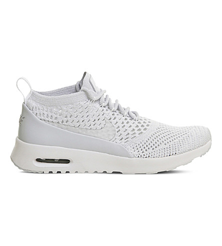 NIKE Air Max Thea Flyknit trainers (Pure+platinum