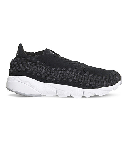 NIKE Air Footscape suede trainers (Black+grey+white