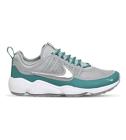 NIKE Zoom Spiridon mesh trainers (Wolf+grey+metallic