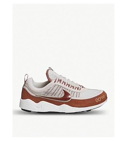NIKE Nike Zoom Spiridon textile and leather trainers (Sand+mars+stone