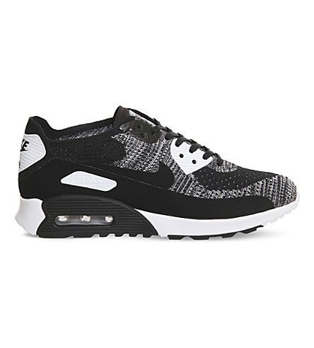 NIKE Air Max 90 Ultra flyknit trainers (Black+white