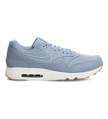 NIKE Air Max 1 Ultra 2.0 canvas trainers (Blue+grey+armory
