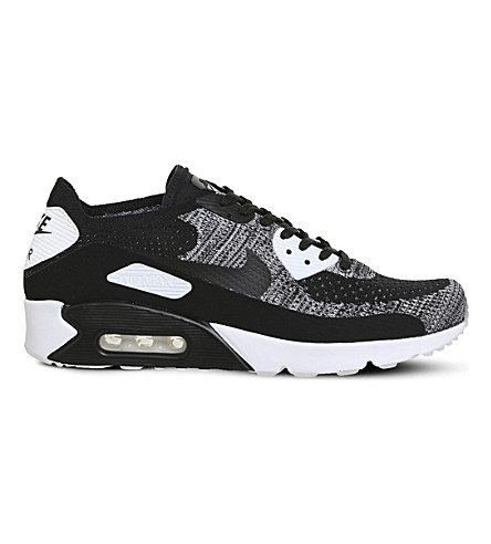 NIKE Air Max 90 Ultra 2.0 Flyknit trainers (Black+white