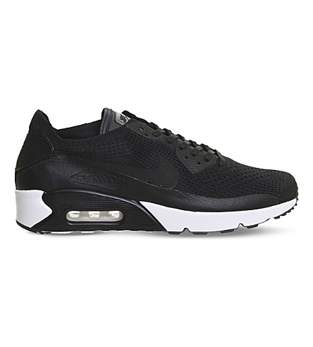 NIKE Air Max 90 Ultra 2.0 Flyknit trainers (Black+black+white