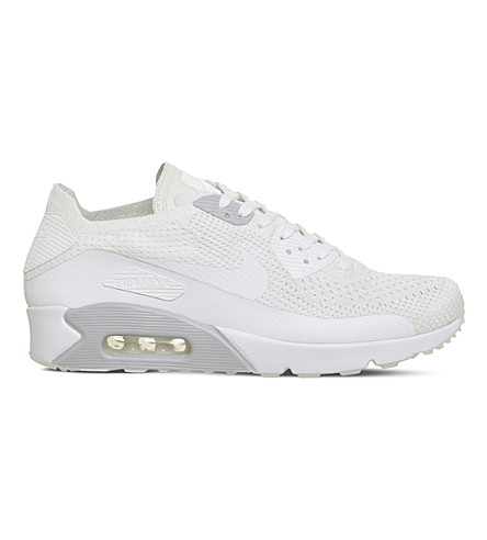 NIKE Air Max 90 Ultra 2.0 Flyknit trainers (White+pure+platinum