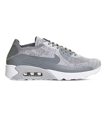 NIKE Air Max 90 Ultra 2.0 Flyknit trainers (Pure+platinum+grey