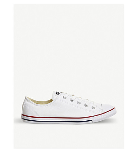 CONVERSE All Star Dainty canvas low-top trainers (Optical+white