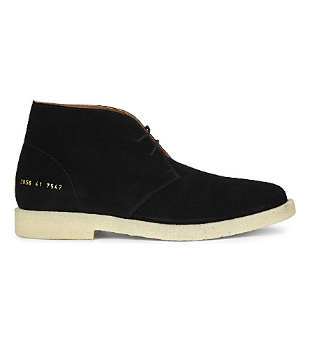 COMMON PROJECTS Suede chukka boots (Black