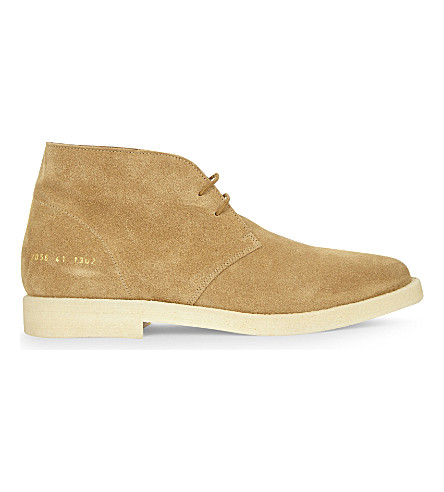 common projects suede chukka boots selfridges