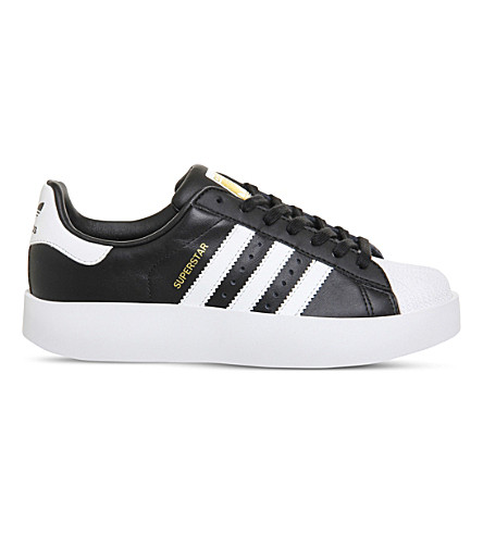 ADIDAS Superstar Bold leather trainers (Black white