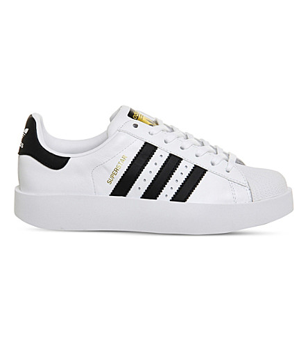 ADIDAS Superstar Bold leather trainers (White black