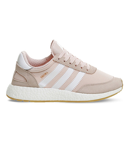 ADIDAS Iniki suede and mesh trainers (Icey+pink+gum